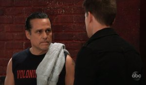 Sonny and Michael at the gym on General Hospital