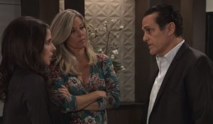 Sonny Sam and Carly discuss Kristina General Hospital