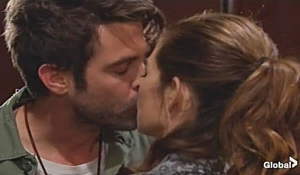 Victoria Brandon kiss in Vegas on Young and Restless