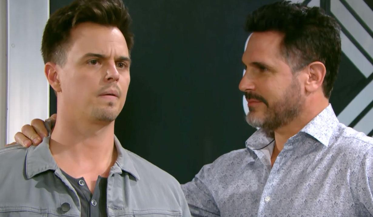 Bill comforts Wyatt on Bold and the Beautiful