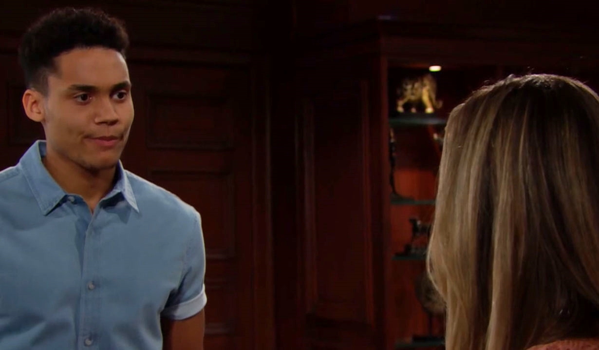 Xander and Hope discuss Zoe on Bold and Beautiful