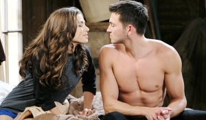 ciara and ben sit on bed days of our lives