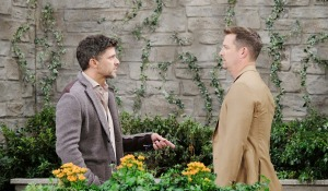 brady eric argue at park days of our lives