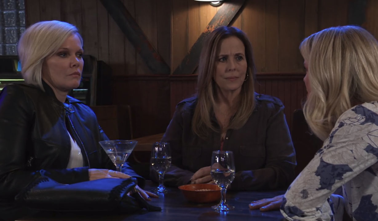 felicia, ava, laura wants to lure ryan back to pc on general hospital