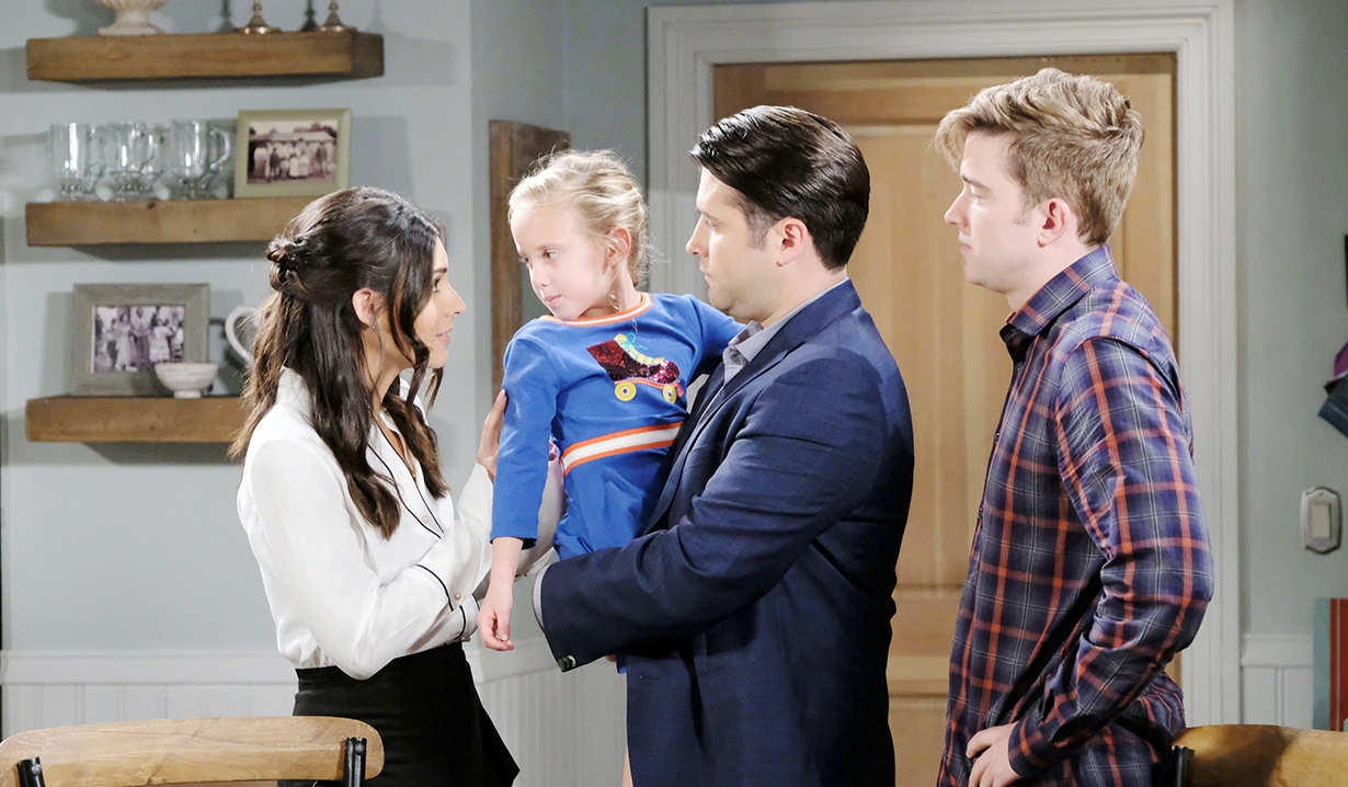 Will Seizes, Chloe and Stefan Kiss, and Kate and Victor at Work