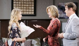 claire talks to eve and jack on days of our lives