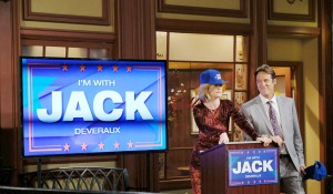 jack and eve with mayoral candidate sign days of our lives