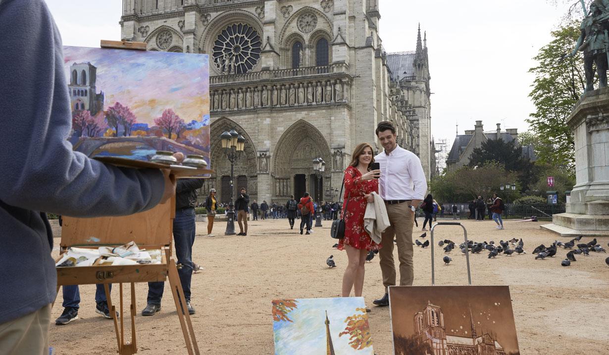 Jen Lilley in Hallmark's Paris, Wine and Romance