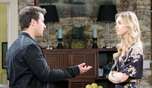 jj and claire talk at loft on days of our lives