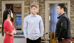 tripp jj and haley discuss wedding days of our lives