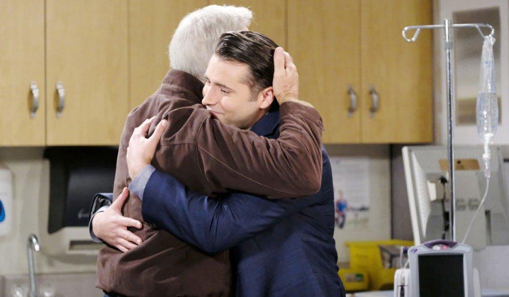 john hugs sonny on days of our lives