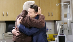 sonny and john hug hospital days of our lives