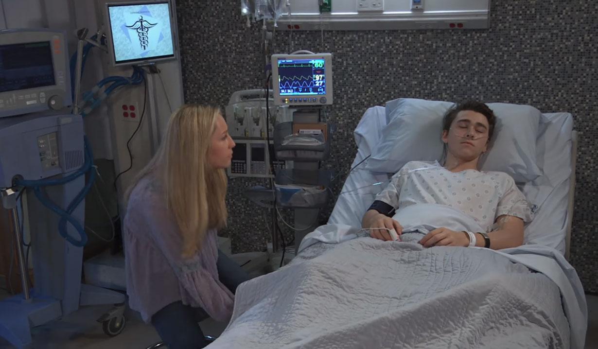 Joss at Oscar's General Hospital bedside