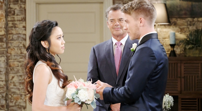 justin officiates tripp & haley wedding days of our lives