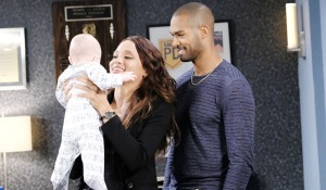 lani and eli hold baby david spd days of our lives