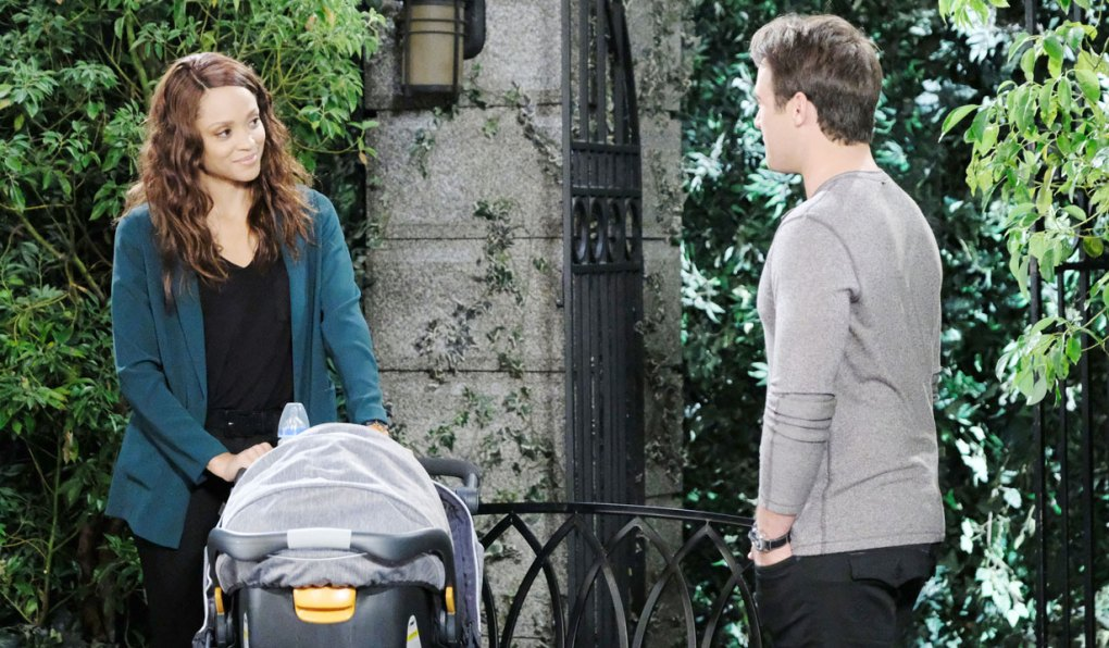 lani's with david and jj in the park on days of our lives