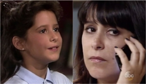 Robin as a little girl and adult