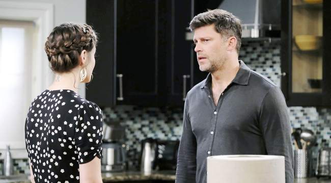 eric and sarah in kitchen days of our lives