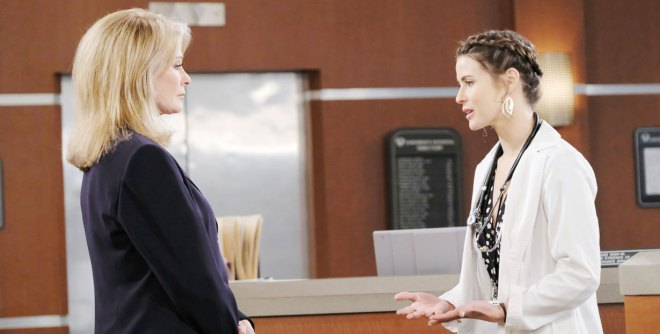 marlena talks to sarah at hospital on days of our lives