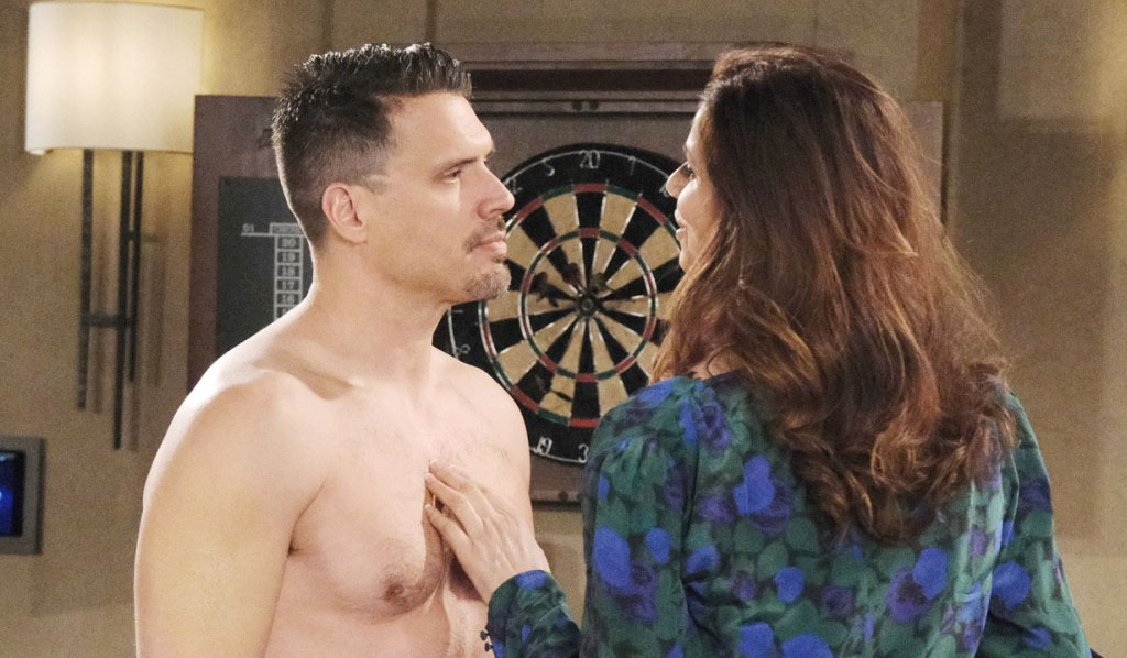 shirtless nick with rebekah on young and the restless