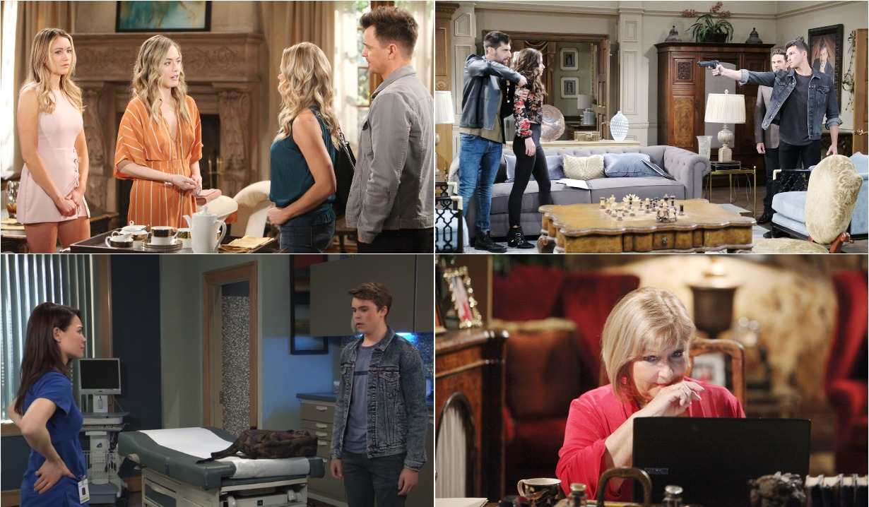 bold and beautiful days of our lives general hospital young and the restless roundup April 22