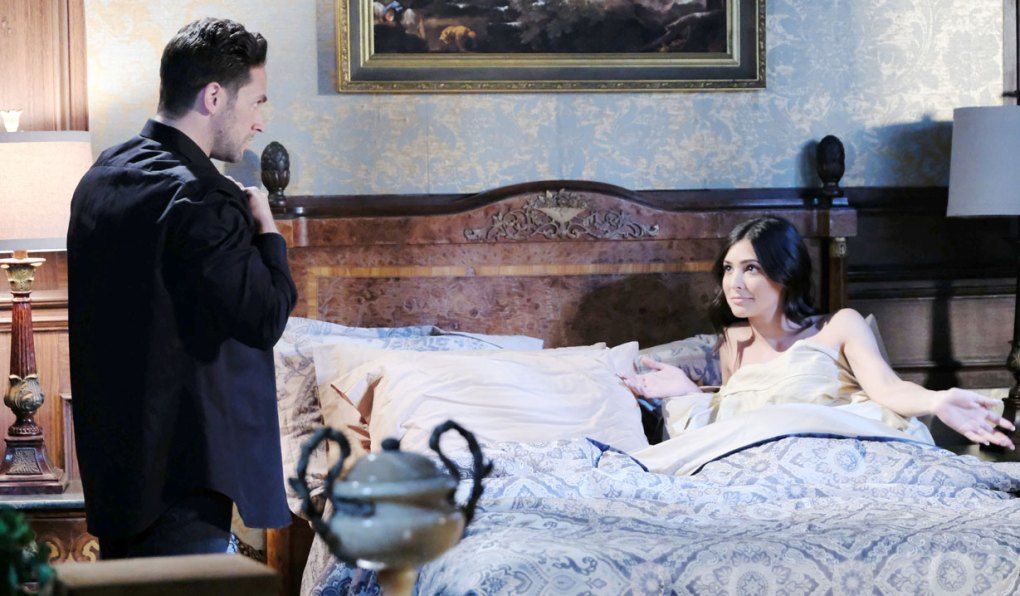 stefan tries to usher gabi out of bed on days of our lives