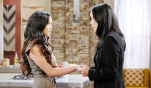 trask learns of haley's nuptials on Days of our Lives