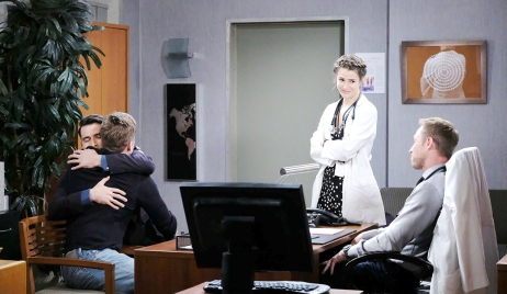 will hugs sonny with rex and sarah days of our lives