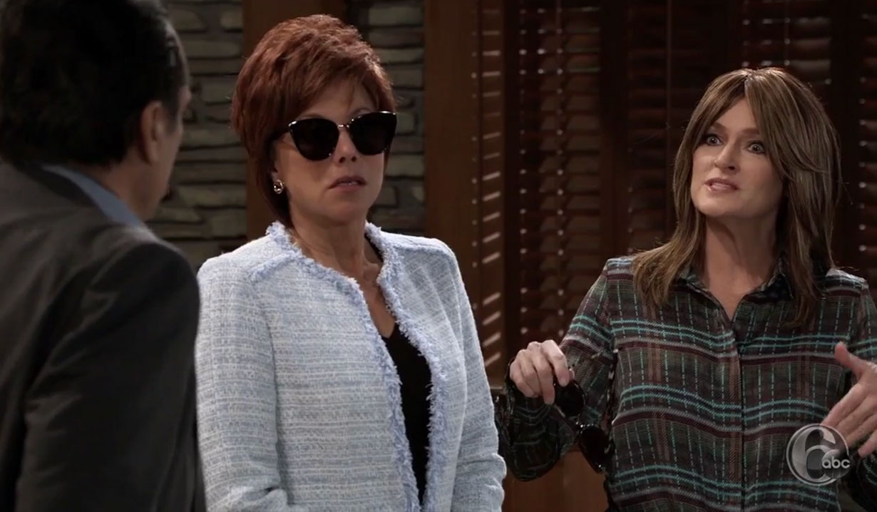 Alexis and Diane Trade Identities on General Hospital