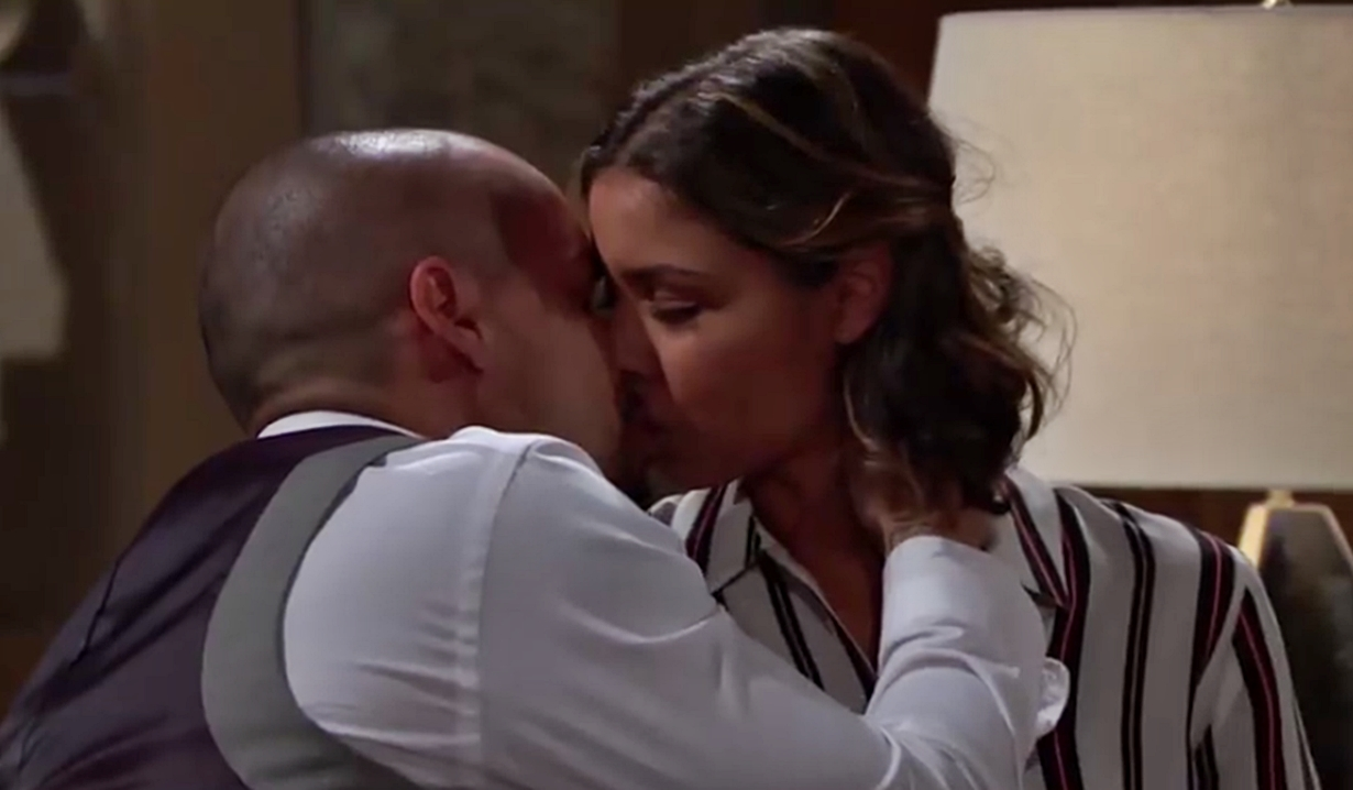 Devon kisses Elena on Young and Restless