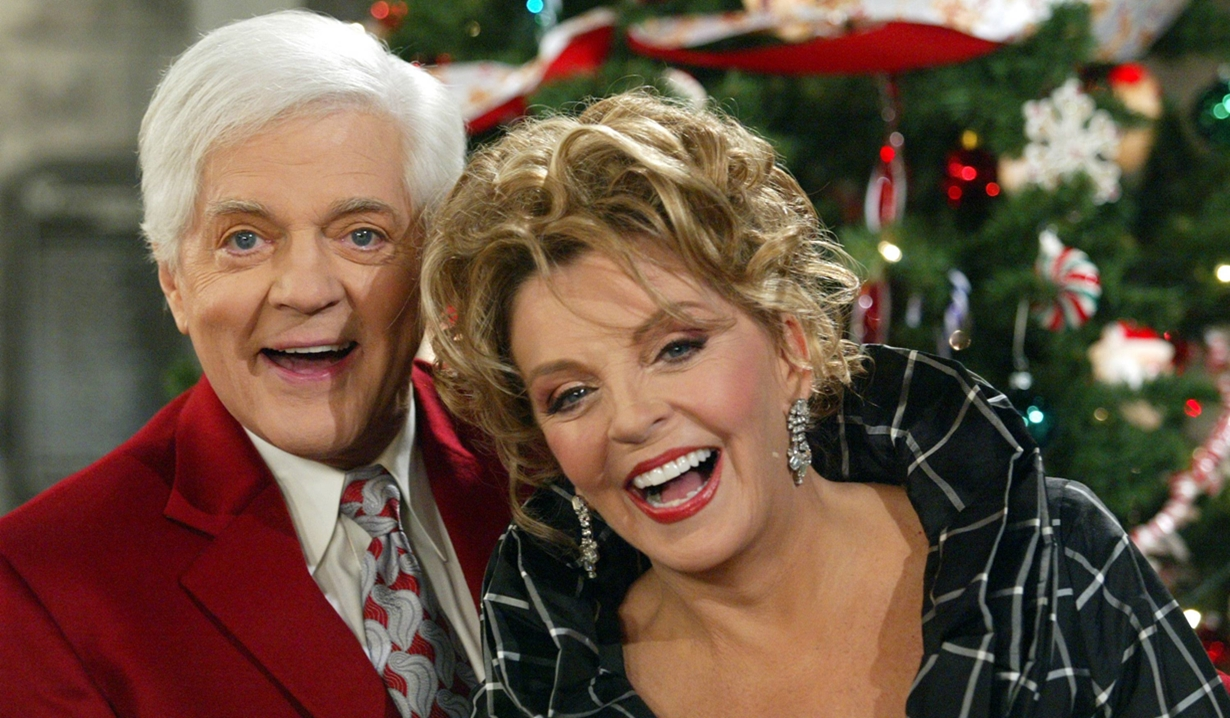 Doug and Julie during the holidays days of our lives
