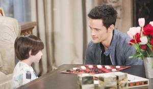 Douglas and Thomas play checkers on Bold and Beautiful