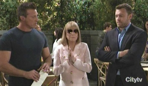 Monica Jason and Drew listen to a letter from Oscar General Hospital