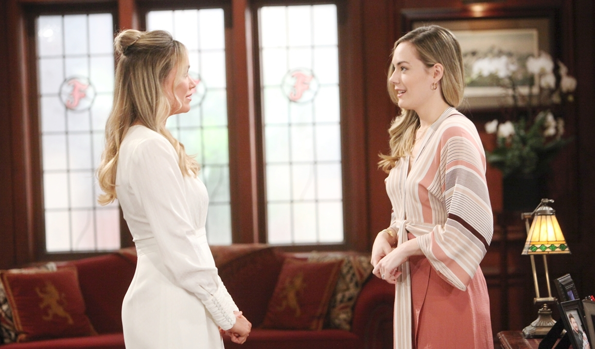 Flo and Hope talk on Bold and Beautiful