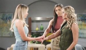 Flo Shauna Zoe make a pact on Bold and Beautiful