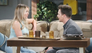 Wyatt visits with Flo on Bold and Beautiful