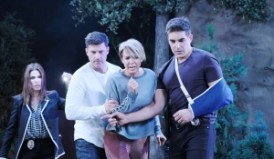 Hope Eric Nicole Rafe look down on Days of our Lives