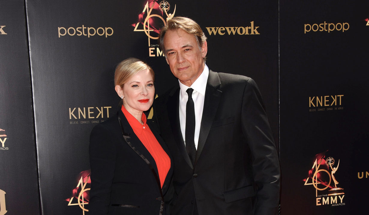 Jon Lindstrom and wife Cady GH 2019 Daytime Emmy Red Carpet