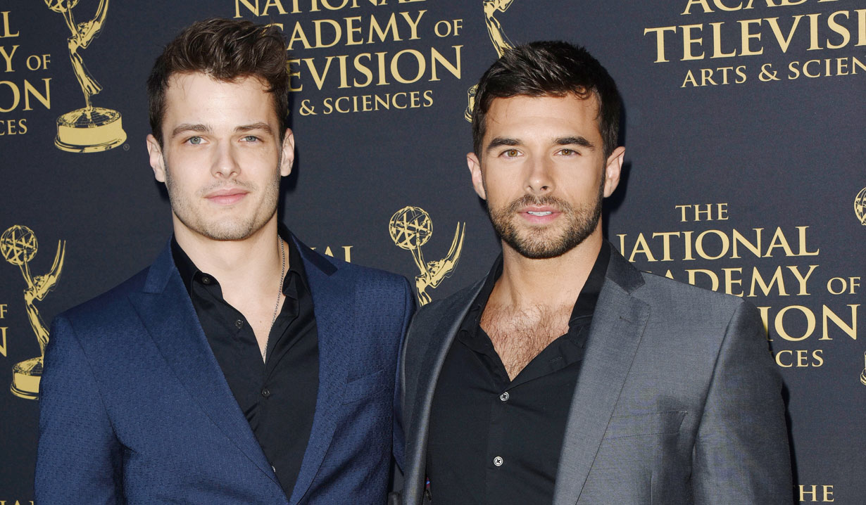Josh Swickard and Michael Mealor at 2019 Emmy Nominee Party