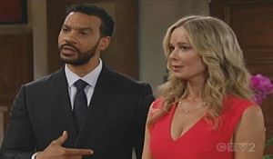 Justin and Donna talk to Brooke on Bold and Beautiful