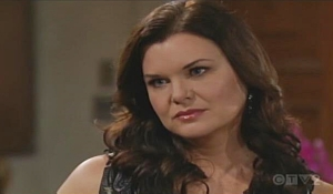 Katie listens to Brooke's warning on Bold and Beautiful