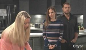 Drew and Kim tells Joss about their trip General Hospital