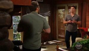 Wyatt checks on Liam on Bold and Beautiful