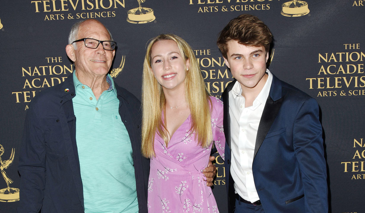 Max Gail, William Lipton and Eden McCoy at 2019 Emmy Nominee Party