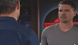 Nick Adam face-to-face on Young and Restless