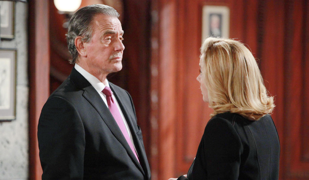 Nikki confronts Victor on the Young and the Restless