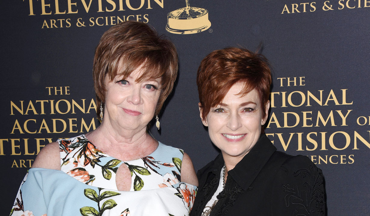 Patricia Bethune and Carolyn Hennesy at 2019 Emmy Nominee Party