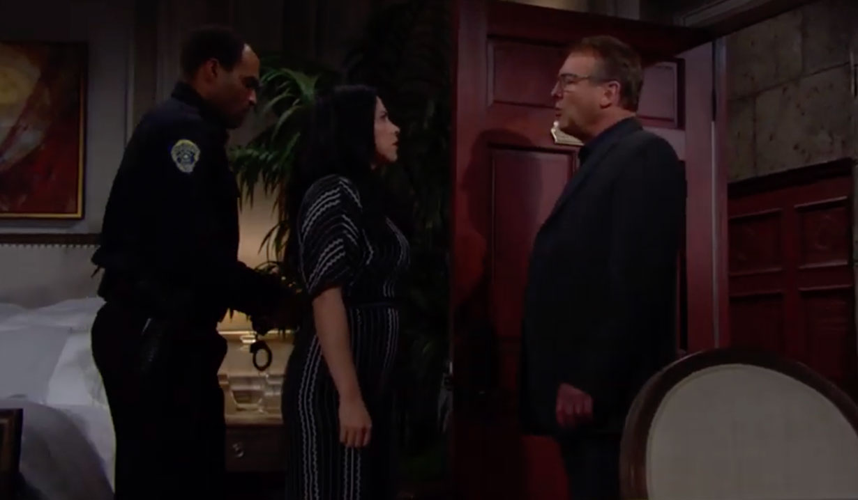 Paul arrests Mia on The Young and the Restless