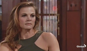 Phyllis warned by Lauren Young and Restless