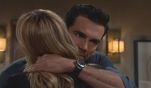 Rey embraces Sharon on Young and Restless